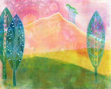 The Sun Shines Over the Hill (SOLD)