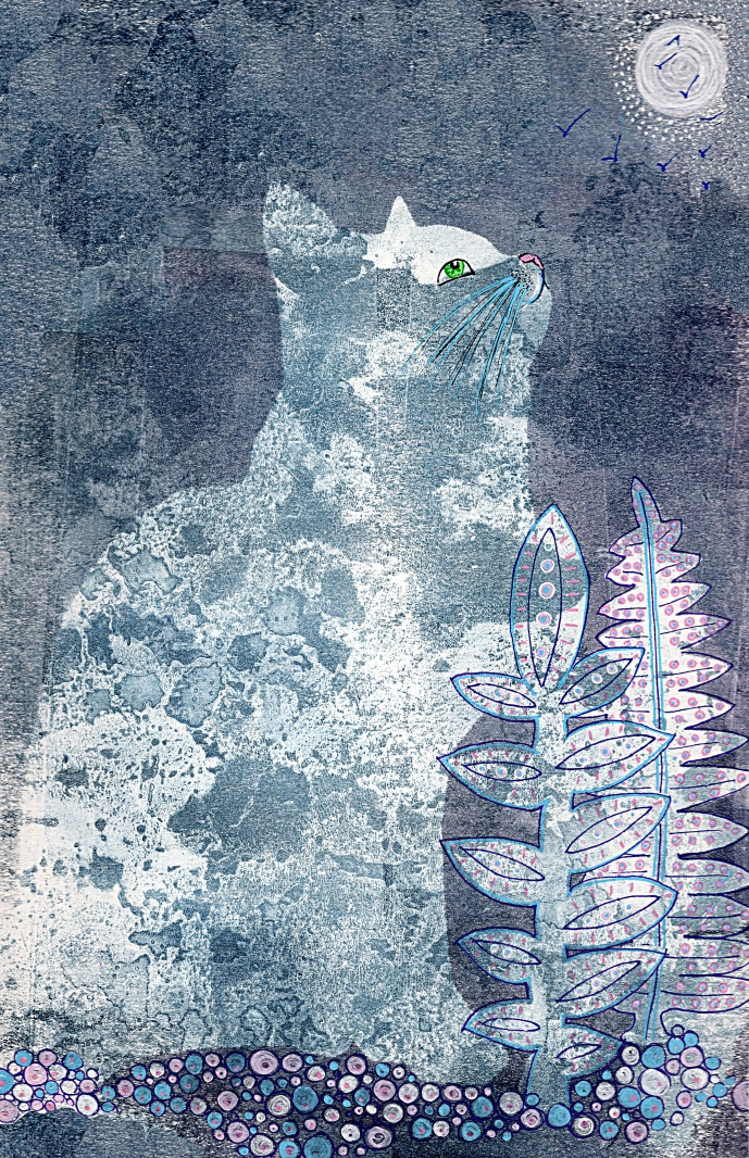 The Tabby and the Moon (SOLD)
