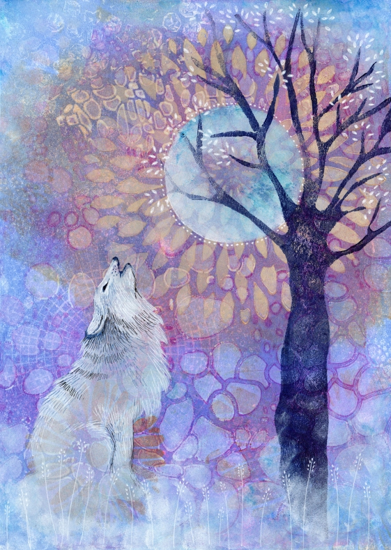 Howling at the Moon (SOLD)