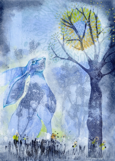 The Hare at Full Moon (SOLD)