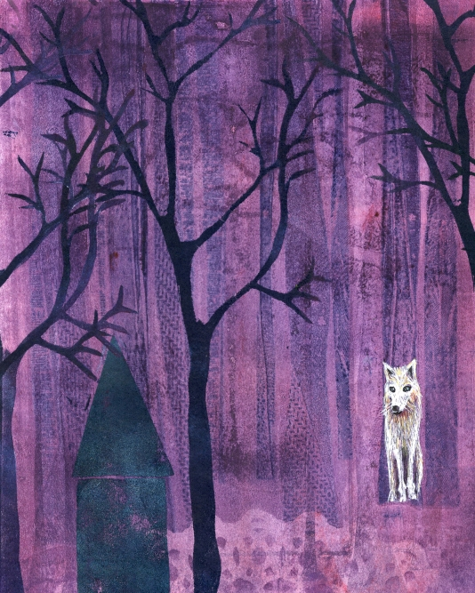 The Wolf Looks On (SOLD)